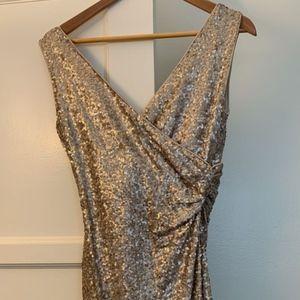 Gold Sequin Badgley Mischka dress size 4